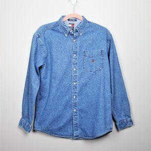 VTG Tommy Hilfiger Jean Shirt XL But Runs Smaller